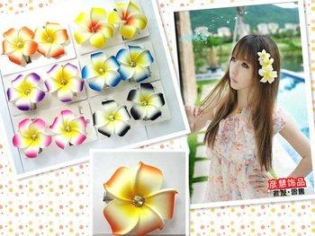 flower jewelry  Headdress of children's hair ornaments/foam flower of Hawaii/PE frangipani/hairpin/factory outlets