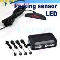 4 pcs/lot Display Indicator 12V 4 LED Car Parking Sensor Reverse Radar Kit Black 1459