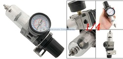 Free Shipping 2PCS/Lot SMC Type 150PSI Air Pneumatic Filter Regulator 1/4'' Pressure Meter Gauge Combo Unit AW2000-02(China (Mainland))