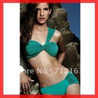 Free Shipping~With Pad!New bathers Padded bikini set ladies swimwear One strap swimsuit RT3027(Buy>=2pcs,Gift 1sunglass