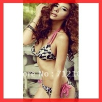 Free Shipping~With Pad! Sexy Top + Bottom Set Push Up Padded Cup Swimsuit Swimwear Bikini  RT3035 (Buy>=2pcs,Gift 1sunglass