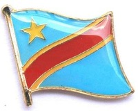 350pcs/lot, free shipping Congo flag lapel pins for badge collection
