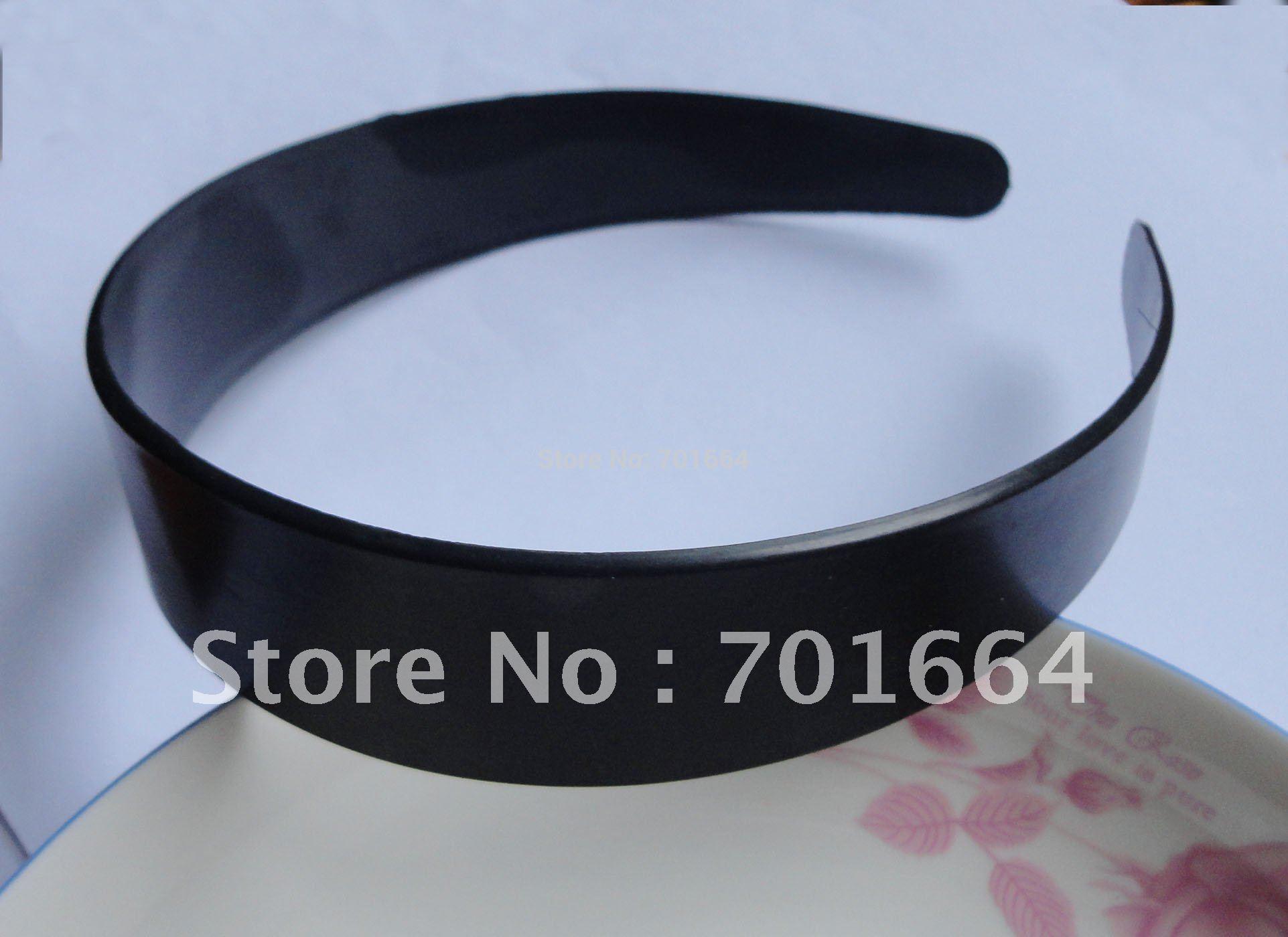 "10PCS 3.0cm 1.15"" Black No Teeth Plain Plastic Hair Headbands as DIY accessories,BARGAIN for BULK(China (Mainland))"