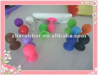 silicone mobile phone stand with plastic plaque