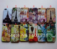 Free shipping &100pcslot  Retro Old Paris LA Tour Eiffel Tower hard Case Cover  For iPhone 4 4G 4S