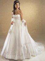 Free shipping Sweetheart Beaded handmade flower Appliques Wedding Dress custom size&color