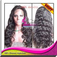 180% density ,natural color 100% virgin brazilian hair,medium cap size,medium brown lace color full lace wig for black women