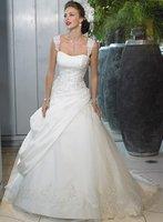 2012 New Designer Style! Simple Fashion Bride Princess Thin Wedding Dress, Free Shipping