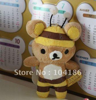 "KAWAII Rilakkuma Bear Bee Design TOY; 50PCS Size 4"" New Rilakkuma Plush Stuffed TOY, DOLL, Soft Plush Toy Figure; Key Chain GIFT"