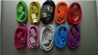 200pcs/lot  10 colors available  Colorful USB Cable for ipod for iphone