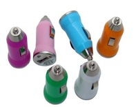 500pcs/lot mini Car Charger for PDA Iphone 3G/4G/4S Mp3 MP4