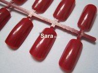 Free shipping-wholesales,Red Fashionable Full Cover False Finger Tips/false tips100set/lot total1200pcs #05