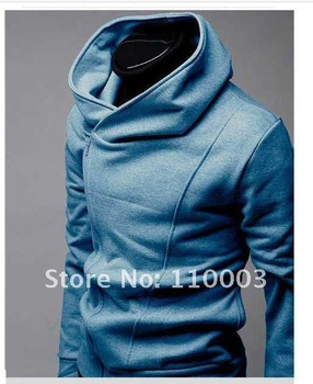 Oblique zipper Korean version man  cardigan   Men sweater jacket