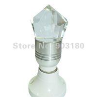 4pcs New lens LED 3W RGB spotlight E27/GU10 Remote Control RGB Flash LED Spot Light Diamond-like crystal KTV light fast shipping