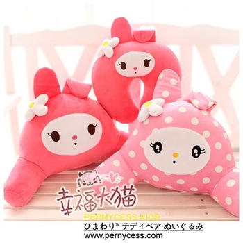 Pernycess 2012 new MY MELODY Home&Car plush waist pillow,Cervical U pillow,factroy wholesale&retail