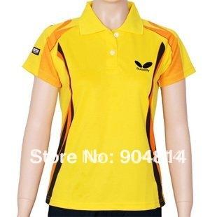 wholesale!free shipping New  Women Badminton/Table Tennis shirt  1007B