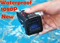 New 1080P HD underwater diving camera with 4 digital zoom, TV out, HDMI, diving up to 30 meter HD underwater video recording