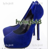 new hot selling dark blue Women's high heel pumps shoes/party shoes