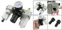 Free Shipping 2PCS/Lot SMC Type 1/4'' High Flow Rate Air Source Treatment Unit Filter Regulator Lubricator AC2000-02