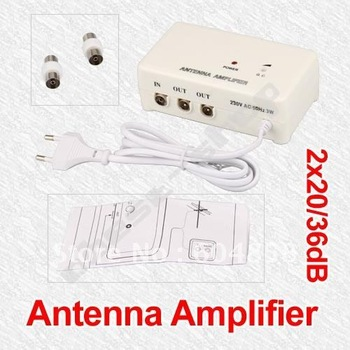 FM TV Amplified Aerial Antenna DVB-T Signal Amplifier Booster Splitter
