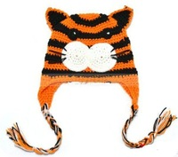 6pcs Toddler EarFlap Crochet Hat Baby Handmade design Beanie Hat Knitted hat C137, 6-18m