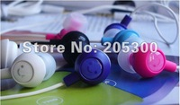 Free Shipping! 100 pcs/lot Fruit Smiling Headphone Smile Face Headset for MP3 Player EHP-IN10 Fashion In-ear Headphone 12 Colors