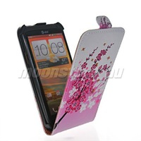 FLOWER STYLE LEATHER FLIP POUCH CASE COVER  FOR HTC ONE X FREE SHIPPING