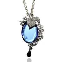 Han edition adorn article elegant crystal diamond necklace grape bunches sweater chain