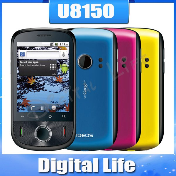 Original Unlocked Huawei U8150 IDEOS cell phone GPS 3G Android OS free shipping(China (Mainland))