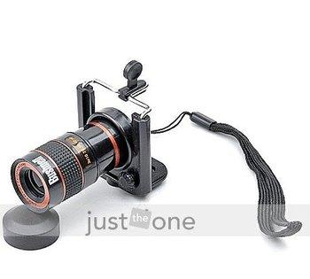 8x 8 x Zoom Optical Telescope Camera Lens Len For Universal Android Samsung HTC LG MOTO Nokia Cellphone + Holder