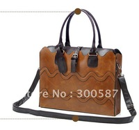 2015 New fashion Vintage 2in1 wave veins bag Women's lady shoulder handbag bag