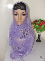 2012 hot sell  stylish arab scarf, islamic higabs,for free shipping h12032907