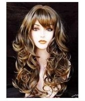 new Pretty wonderful brown mix women's full wig