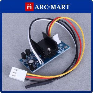 12V 6W Smart Fan Speed Controller A With Temperature Sensor for CPU Cooling Fan 10pcs/lot #ST069