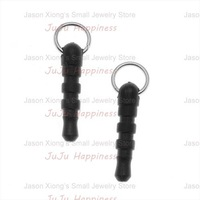 100PCS Smartphone/Cell Phone Charms 3.5mm Audio Adaptor Plugs With Rings Free Shipping!K11