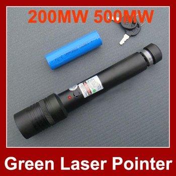 High Power Green Laser Pointer 200MW 500MW Adjustable Star Burn Match Laser Pointer Pen Free Shipping