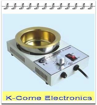 2300g capacity 100mm 300W 41C digital thermostat Lead Free Solder Pot Titanium Alloy ...