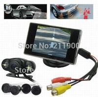 Wireless Car Rearview Camera , 4 Parking Sensor Car Parking Kits