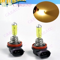 Super Yellow 3K 100W H3 Xenon Car Fog Headlight Halogen Light Gas Lamp Bulbs DC 12V 2860