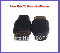 HDMI Male to Female Micro HDMI socket adapter convertor 100pcs/lot free shipping
