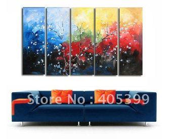 Framed!! Frame oil painting ! Huge  Museum Quality Framed/Stretched Flower Oil  Painting JYJLV203