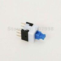 Free Shipping,8mm x 8mm Miniature Self-locking Switch Push Rectangle Button 6 pins,Long life use