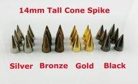 free fee  14mm  50 pcs METAL SPIKE STUDS PUNK metal Studs Spots Punk Rock Nailheads DIY Spikes Bag Shoes Bracelet metal rivet