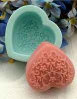 3D heart RO226 soft silicone mold resin Soap Molds DIY moon cake Mould For Jelly Cake Craft cutter cookie