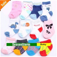 Min Order $20 (mixed order) Retail 100% Cotton Mixed Style Baby Socks (SY-76)