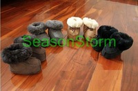 [CPA Free Shipping] Wholesale Warm Baby Genuine Sheepskin Snow Boot 4 Color 6pair/lot (SY-07)