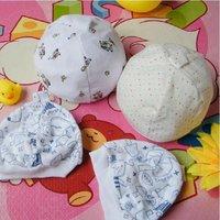 [CPA Free Shipping] Wholesale 100% Cotton Newborn Baby Cap / Infant Prints Cotton Hat 50pcs/lot (SY-09)