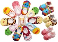 [CPA Free Shipping] Wholesale Busha Anti-skid Baby Socks / Infant 100% Cotton Sock Booties 40pairs/lot (SY-19)