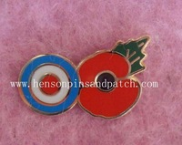 Custom birmingham poppy badge, poppy pin badge
