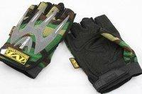 Mechanix M-Pact Mechanics Half Finger Gloves Green Camo free ship